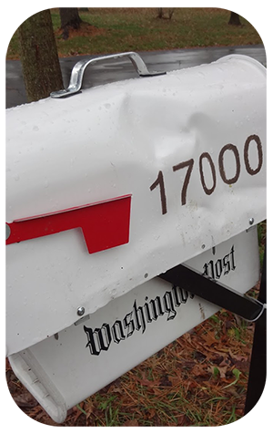 Mail Box Damaged